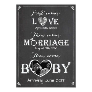 Pregnancy announcement card Love Marriage Baby