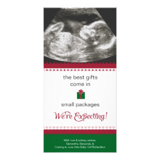 Pregnancy Announcement Christmas Card Photo Card