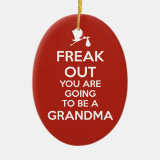 Pregnancy Announcement Grandma Ornament Christmas