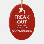 Pregnancy Announcement Grandparents Christmas Ceramic Oval Decoration