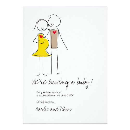 Pregnancy Announcement, Neutral Colours Card