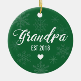 Pregnancy Announcement Ornament for Dad to Grandpa