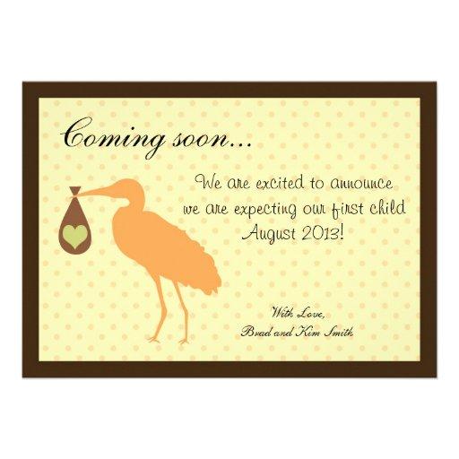 Pregnancy Announcement Personalized Stork
