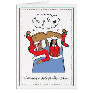 Pregnancy Christmas Card - African American
