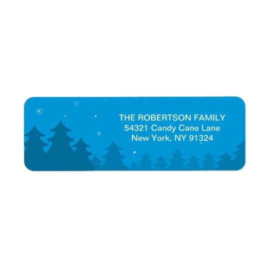 Pregnancy Christmas Coming to Town Return Address Return Address Label
