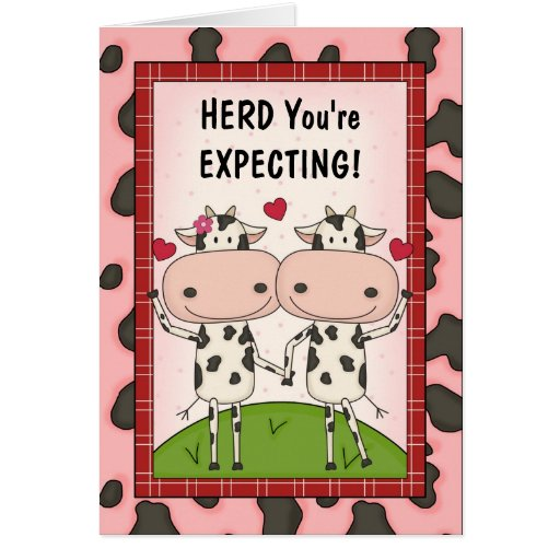 Pregnancy - Cows for Expectant Mothers Greeting Cards