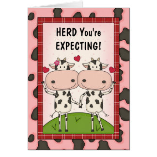 Pregnancy - Cows for Expectant Mothers Greeting Card