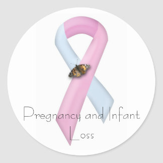 Pregnancy & Infant Loss Awareness Classic Round Sticker