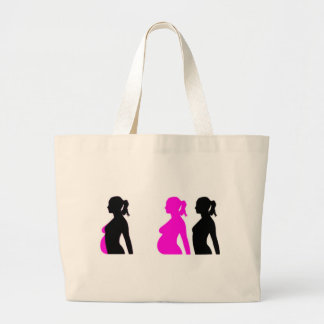 Pregnancy Silhouette Large Tote Bag
