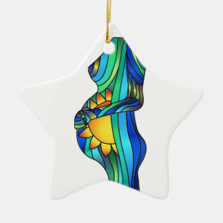 Pregnancy Stained Glass Ornament