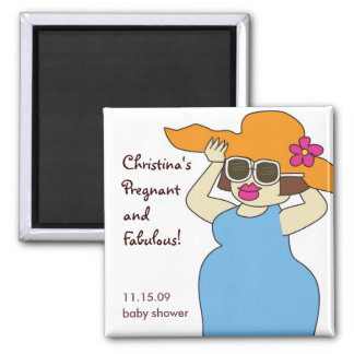 Pregnant and Fabulous Magnet Favors