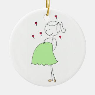 Pregnant at Christmas Christmas Ornament