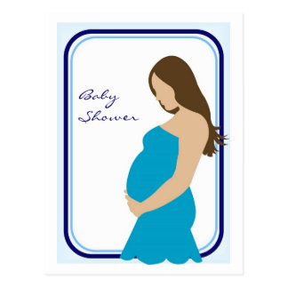 Pregnant Belly Baby Shower Invitation Postcard