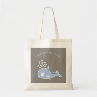 Pregnant Blue Mommy Whale Boy Baby Shower Gift Bag