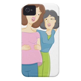 Pregnant Daughter iPhone 4 Case