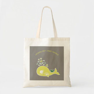 Pregnant Green Mommy Whale Baby Shower Gift Bag