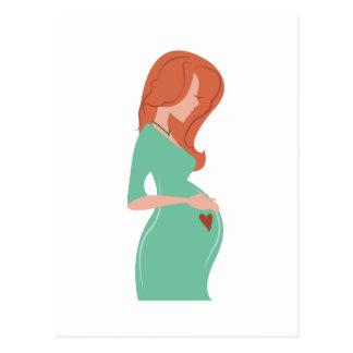 Pregnant Lady Postcard