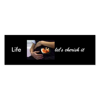 Pregnant - life let's cherish it pack of skinny business cards