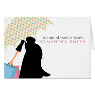 Pregnant Mom Baby Shower Thank You Notes Note Card