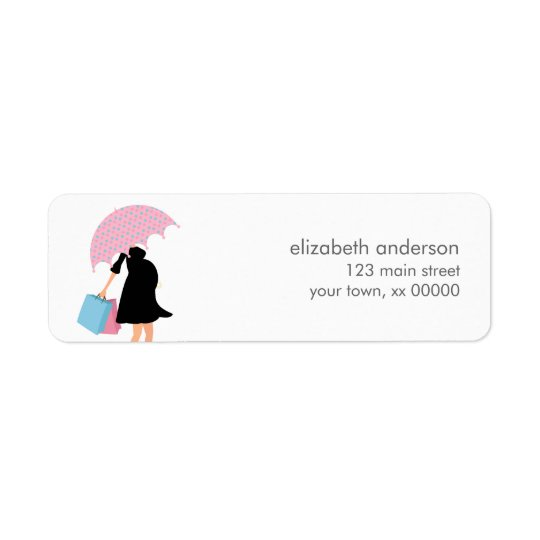 Pregnant Mum Baby Shower Return Address Label