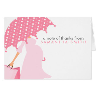 Pregnant Mum Baby Shower Thank You Notes Note Card