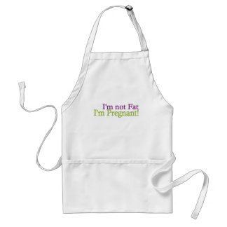Pregnant Not Fat Adult Apron