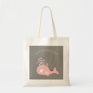 Pregnant Pink Mommy Whale Girl Baby Shower Bag