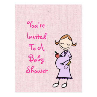 Pregnant Teacher Baby Shower Postcard
