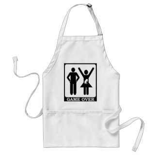 Pregnant Wife - Game Over Standard Apron