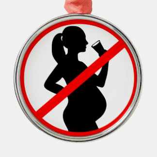 Pregnant Woman Alcohol Symbol Christmas Ornament