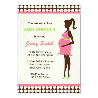 Pregnant Woman Baby Shower Card
