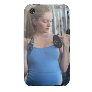 pregnant woman exercising at health club iPhone 3 covers