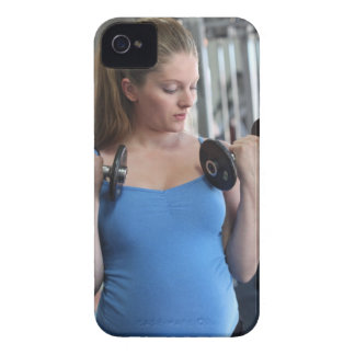 pregnant woman exercising at health club iPhone 4 Case-Mate case