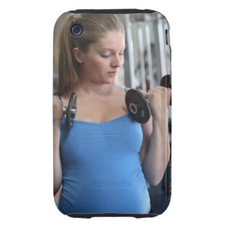 pregnant woman exercising at health club tough iPhone 3 cases