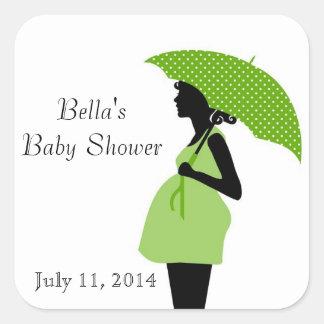 Pregnant Woman Silhouette Stickers Square Sticker