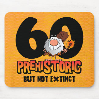 Prehistoric 60th Birthday Mousepad
