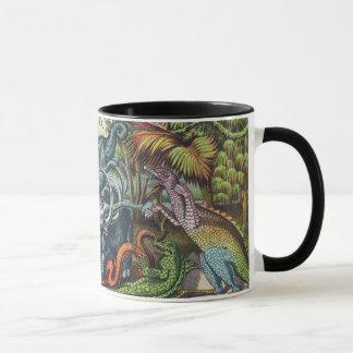 Prehistoric Animals Antique Print Mug