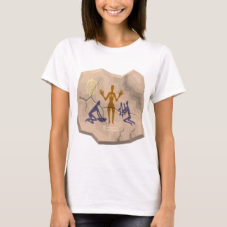 Prehistoric Cave Drawing Woman & Servants T-Shirt