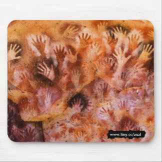 Prehistoric cave painting of hands Mouse Pad