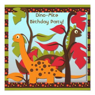 Prehistoric Dinos Birthday Invitations