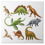 Prehistoric Dinosaur Paleo Ceramic Tile