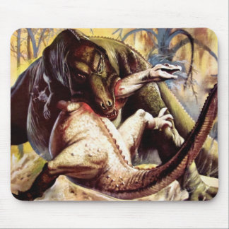 Prehistoric fight mousepad