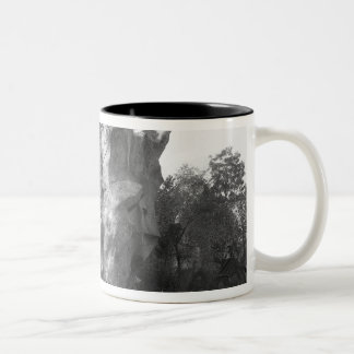 Prehistoric house Two-Tone coffee mug