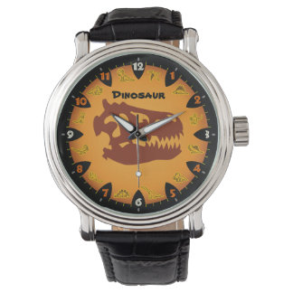 Prehistoric Orange Dinosaur Watch