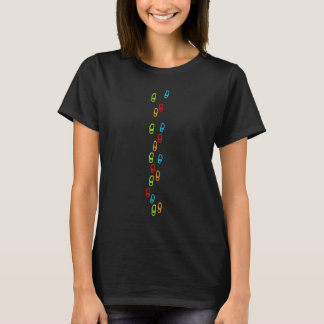 prehistoric rock art human footsteps T-Shirt