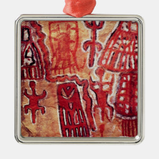 Prehistoric rock painting christmas ornament