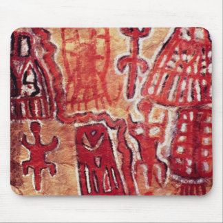 Prehistoric rock painting mouse mat
