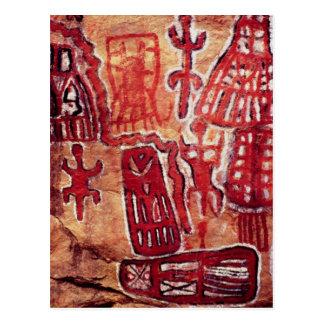 Prehistoric rock painting postcard