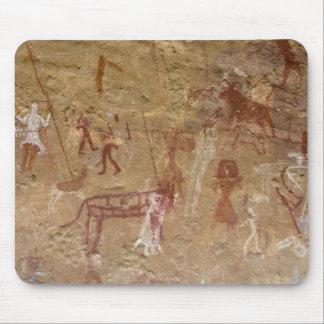 Prehistoric rock paintings, Akakus, Sahara Mouse Pad