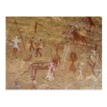 Prehistoric rock paintings, Akakus, Sahara Postcard